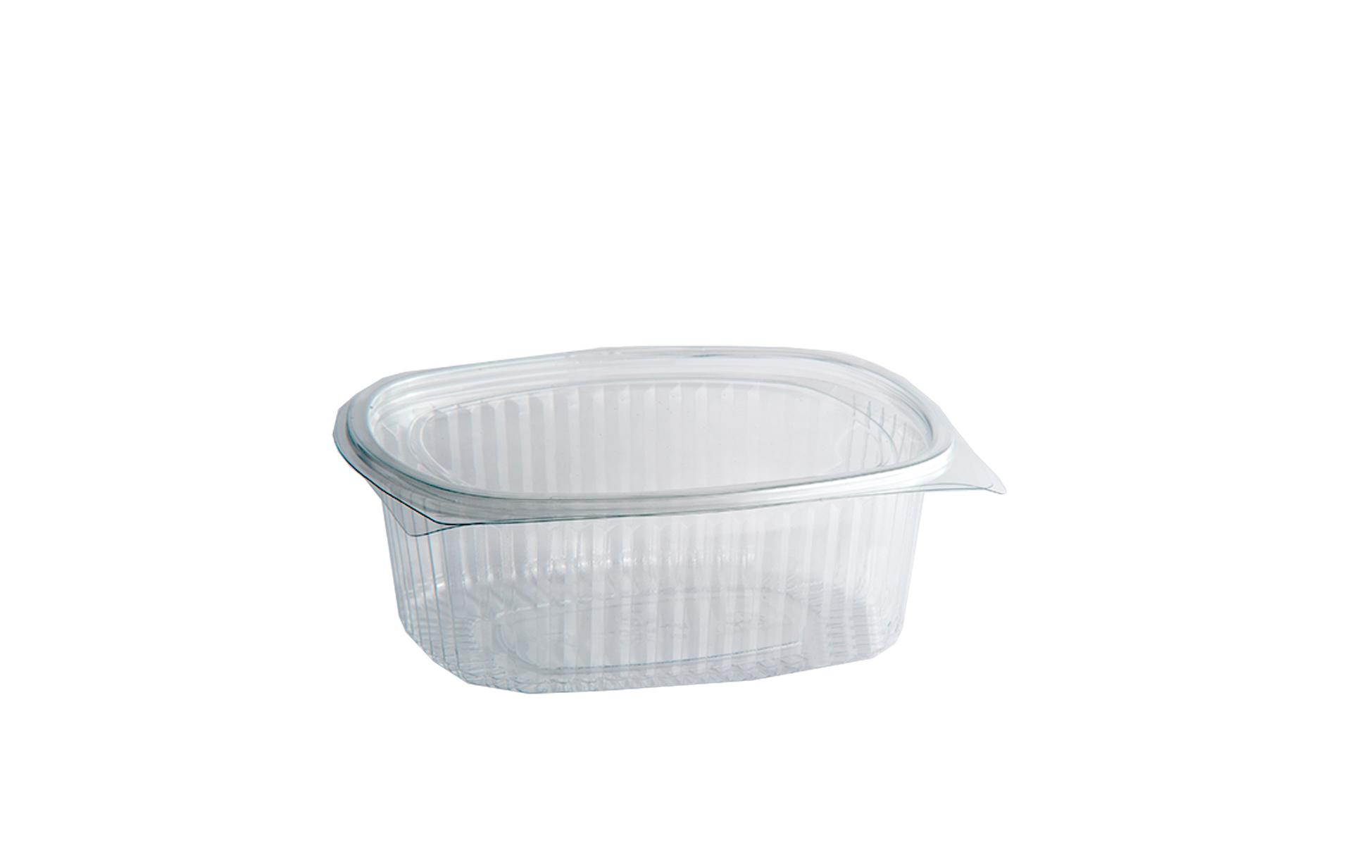 Envase bisagra PET oval 750