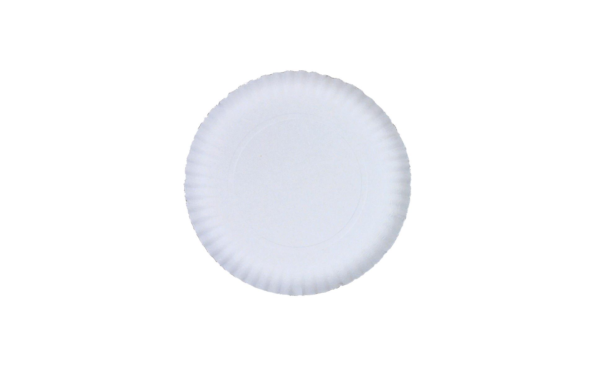 Plato  blanco estriado 18