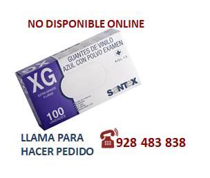 Guante vinilo azul  XL - SÓLO PEDIDO TELEFÓNICO