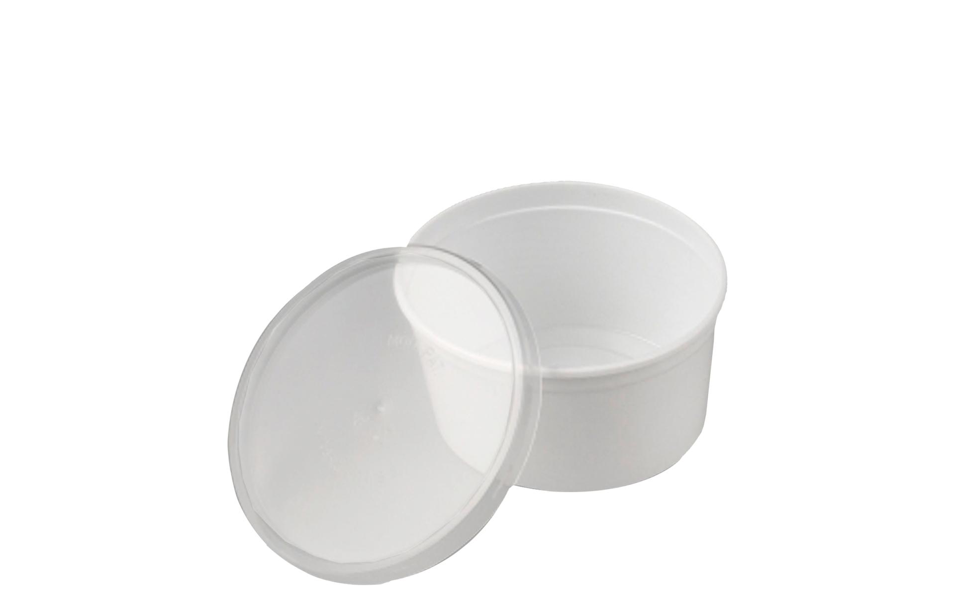 Tarrina redonda 500 blanca