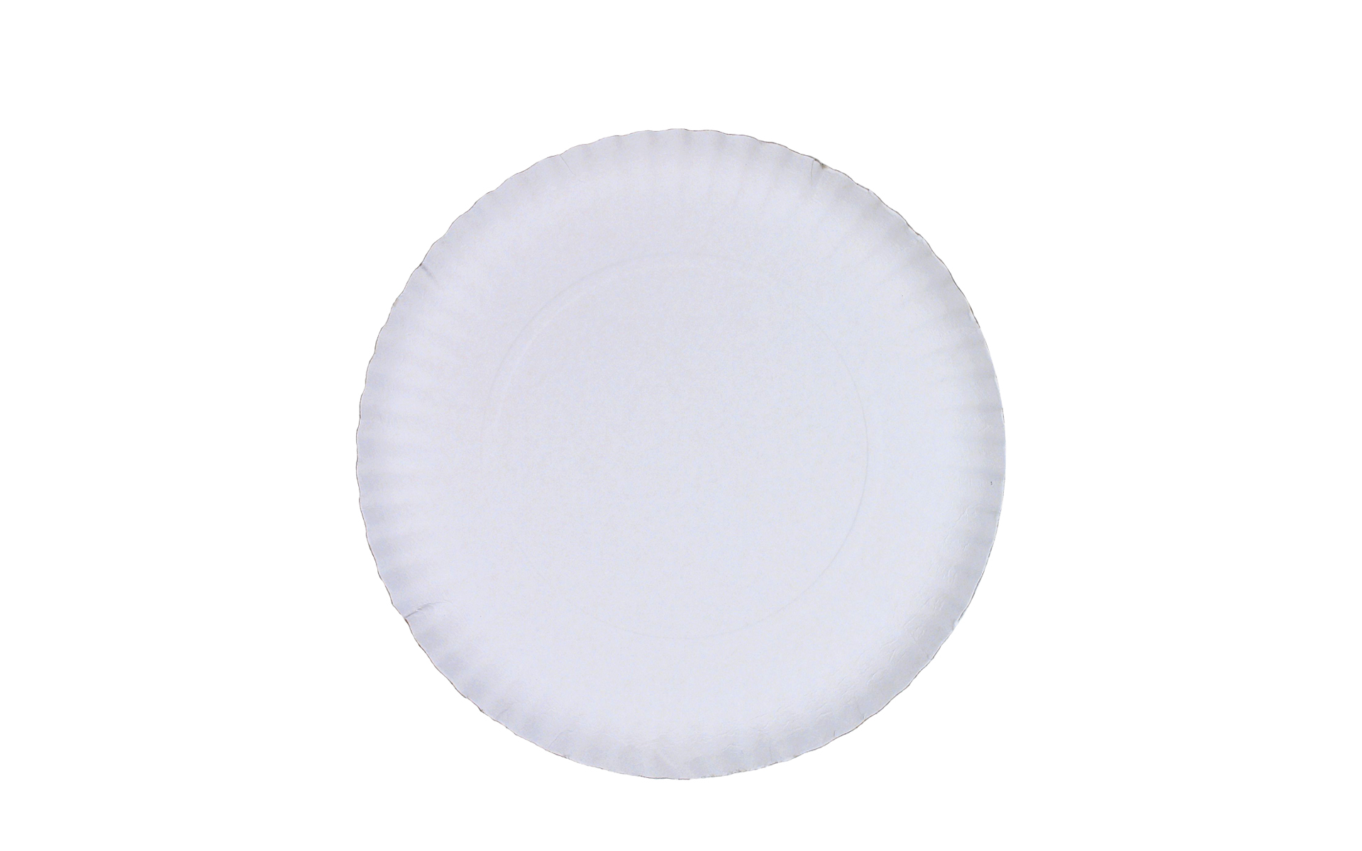 Plato  blanco estriado 27