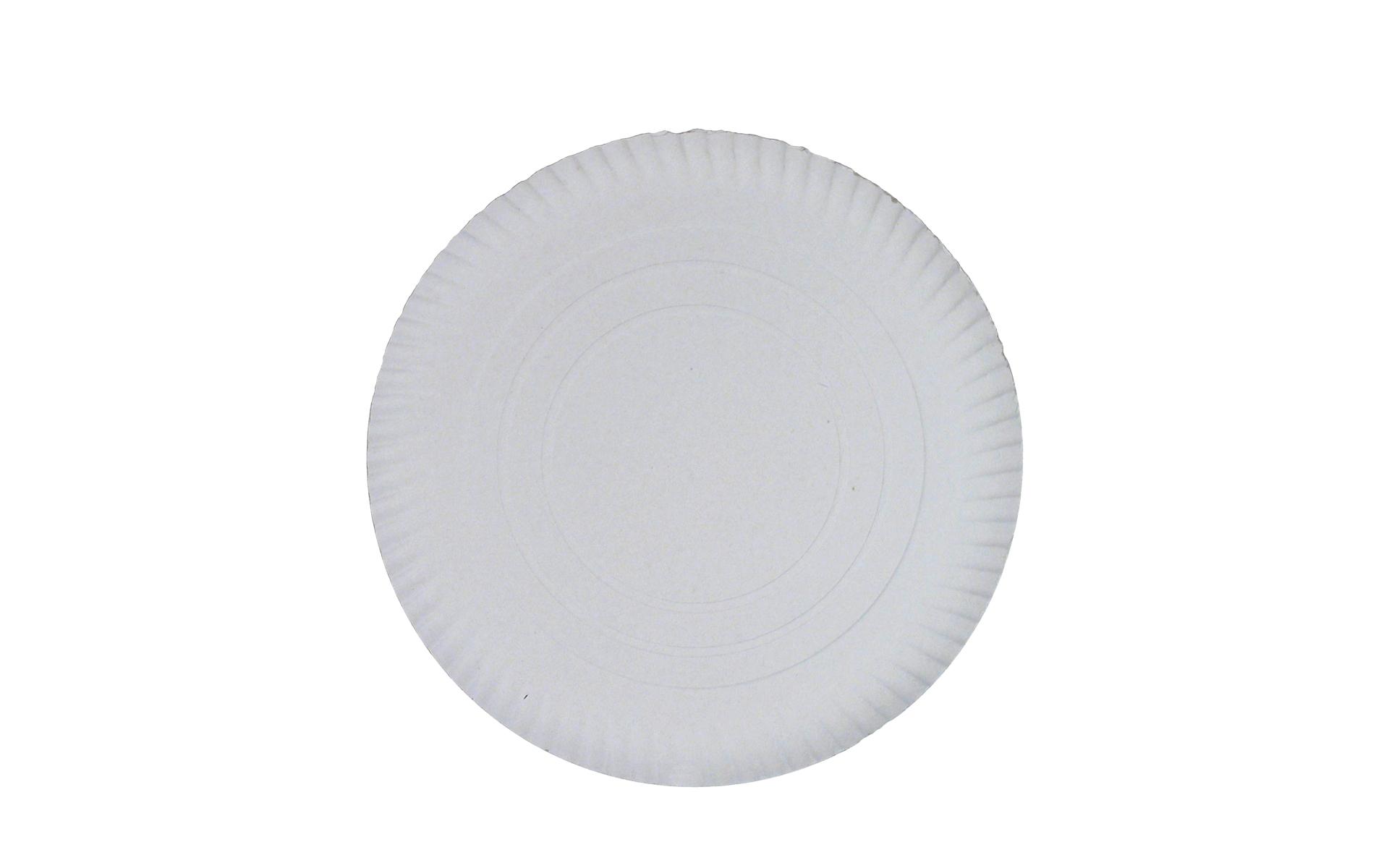 Plato  blanco estriado 30