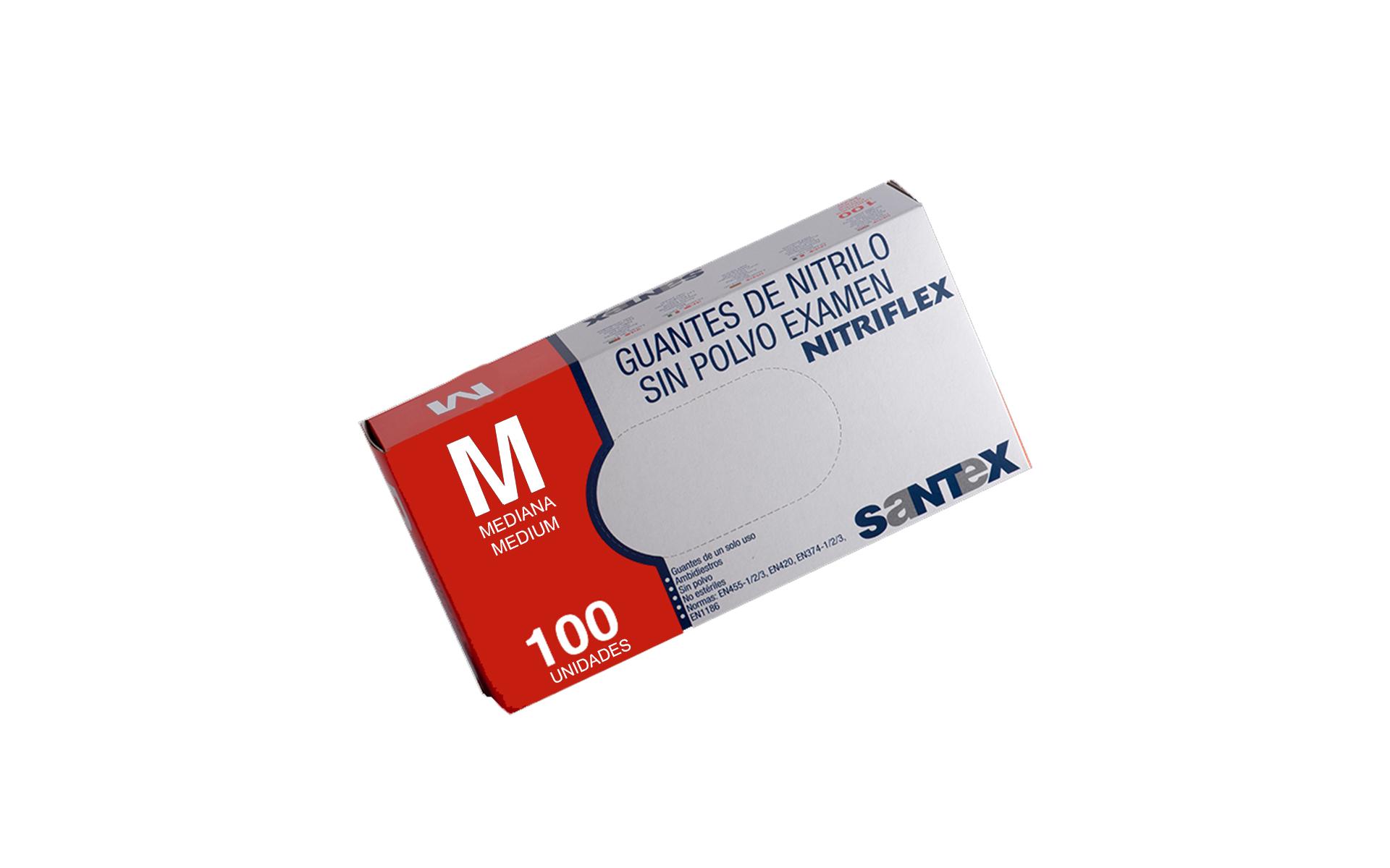 Guante nitrilo azul M