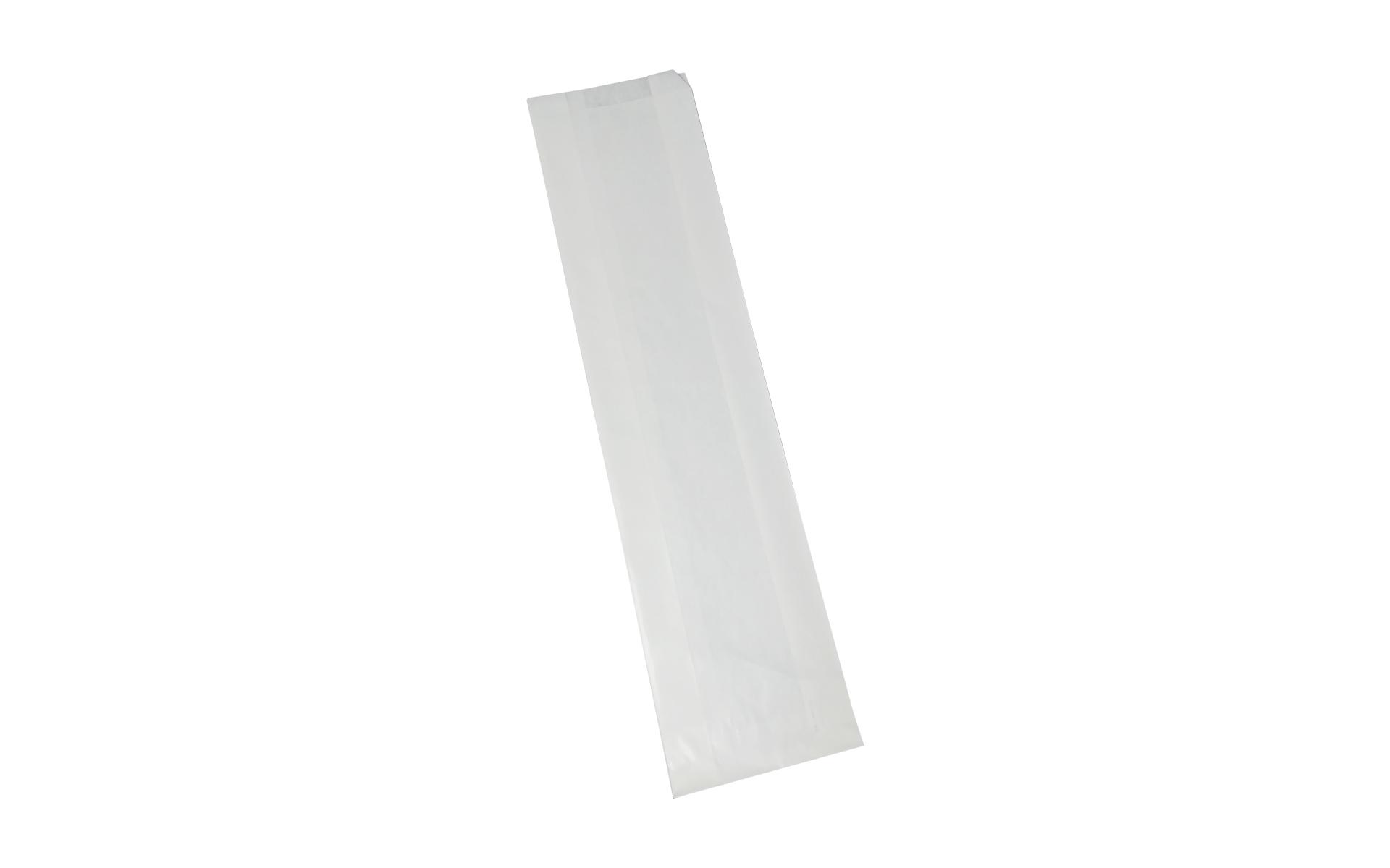 Bolsa blanca fuelle 14x30