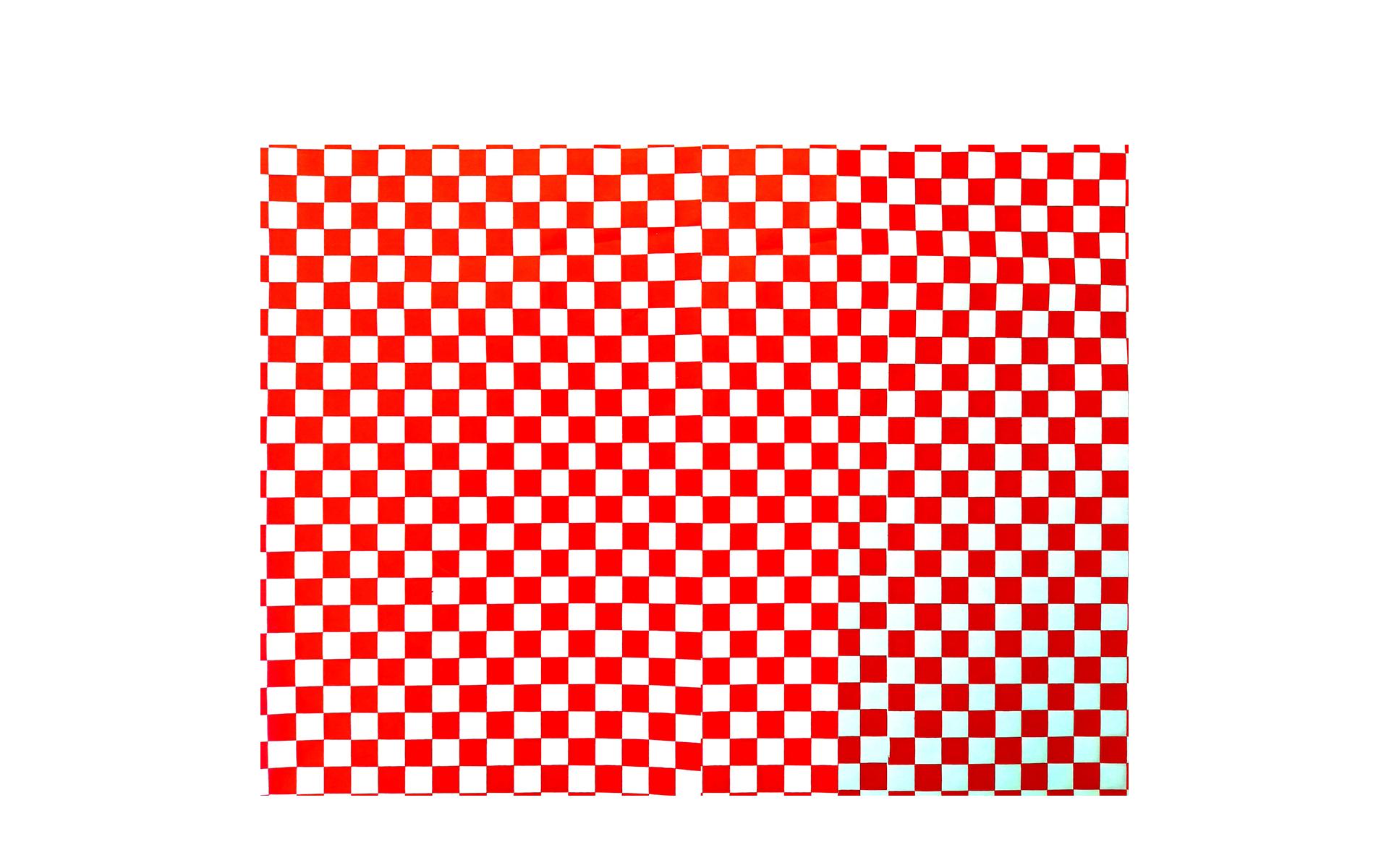Envoltorio cuadros rojo  28x34