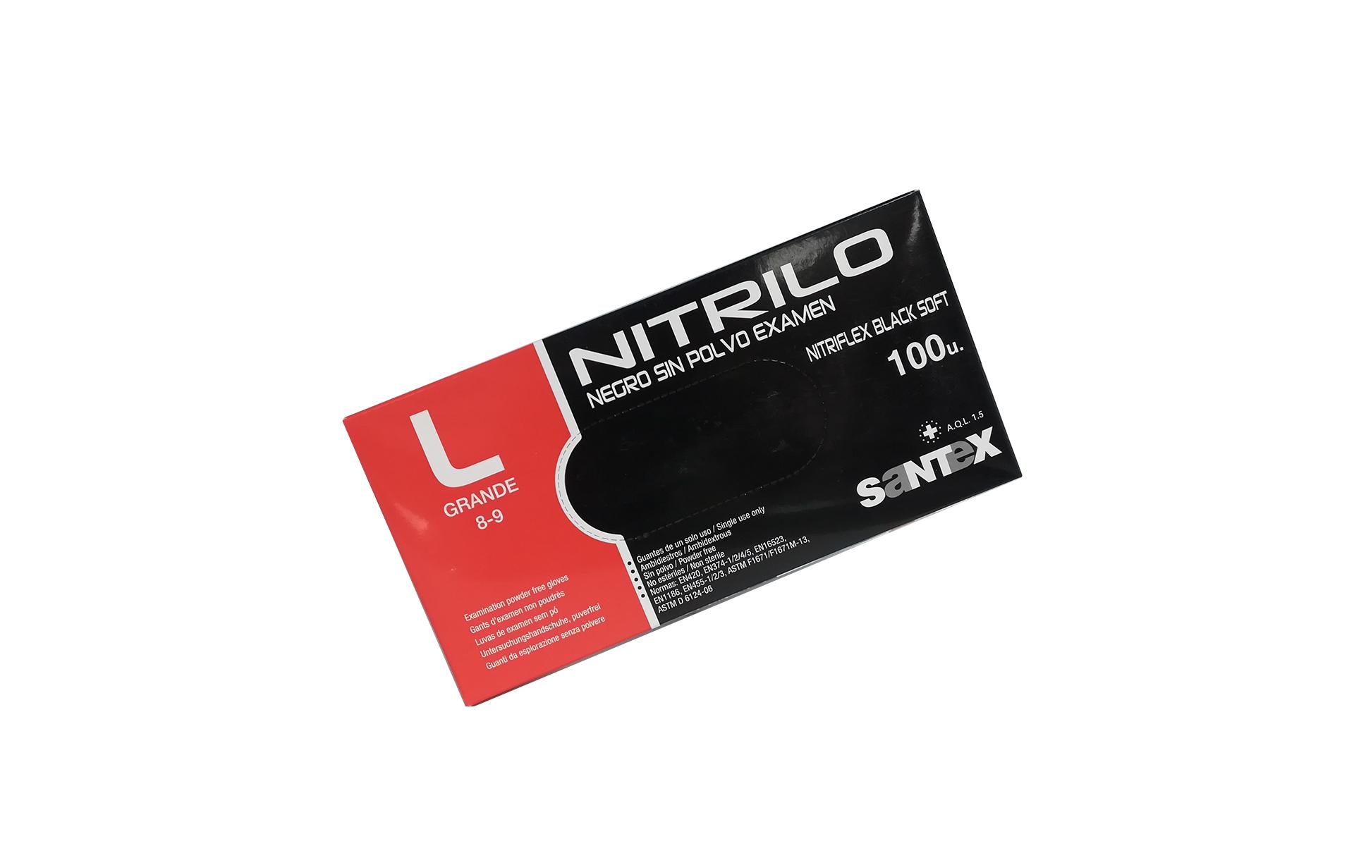 Guante nitrilo negro G