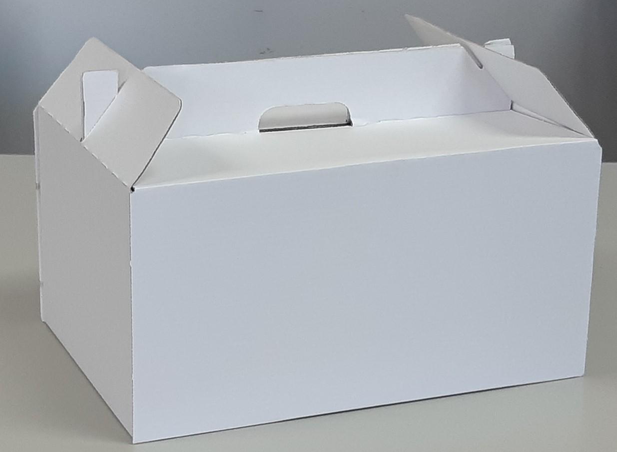 Caja de cartón blanca