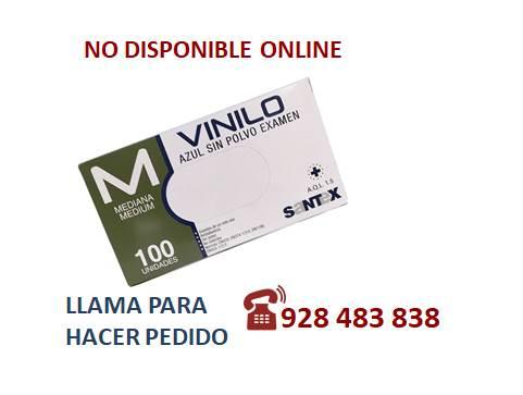Guante vinilo azul  M S/P - SÓLO PEDIDO TELEFÓNICO