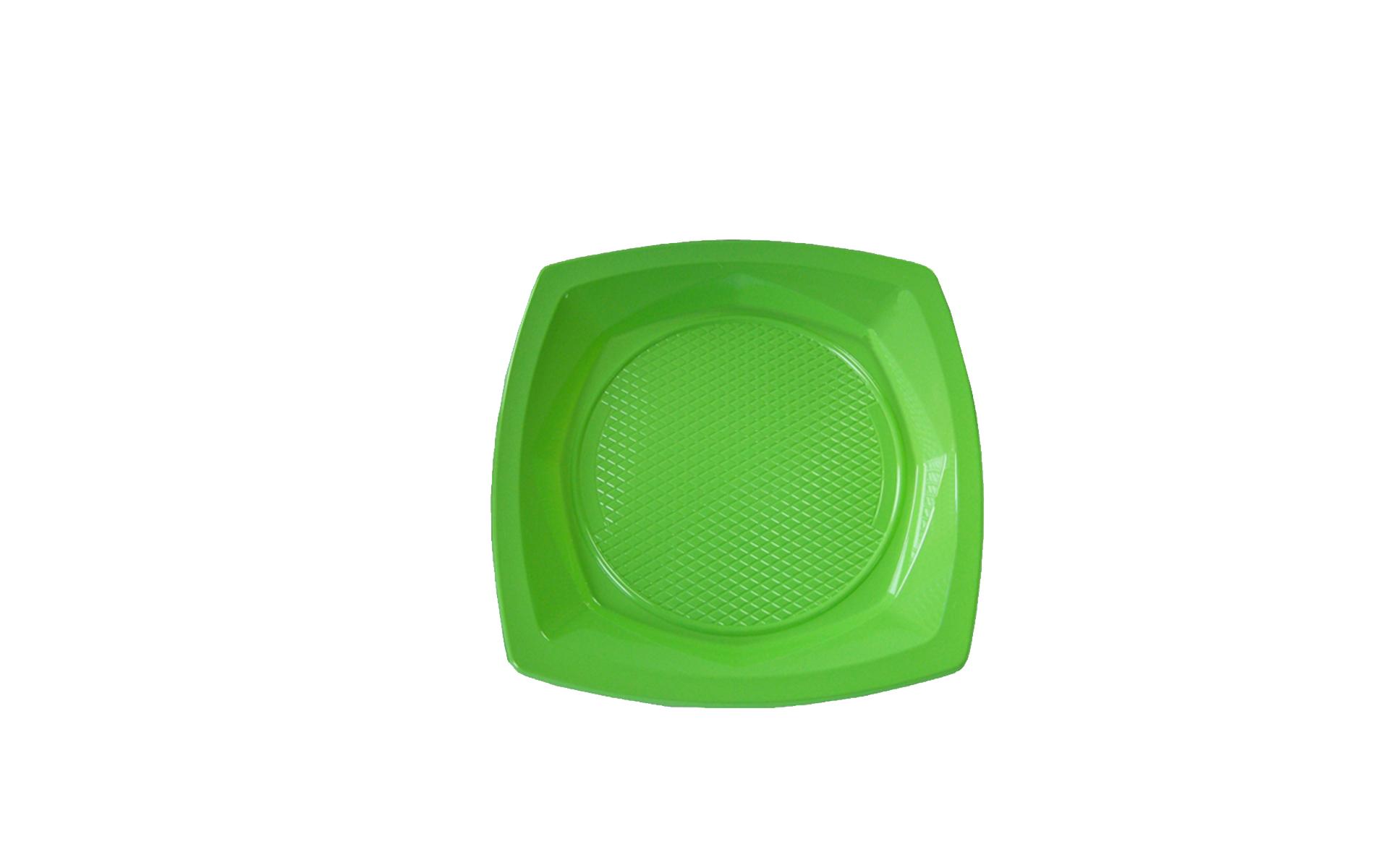 Plato  17 verde pistacho