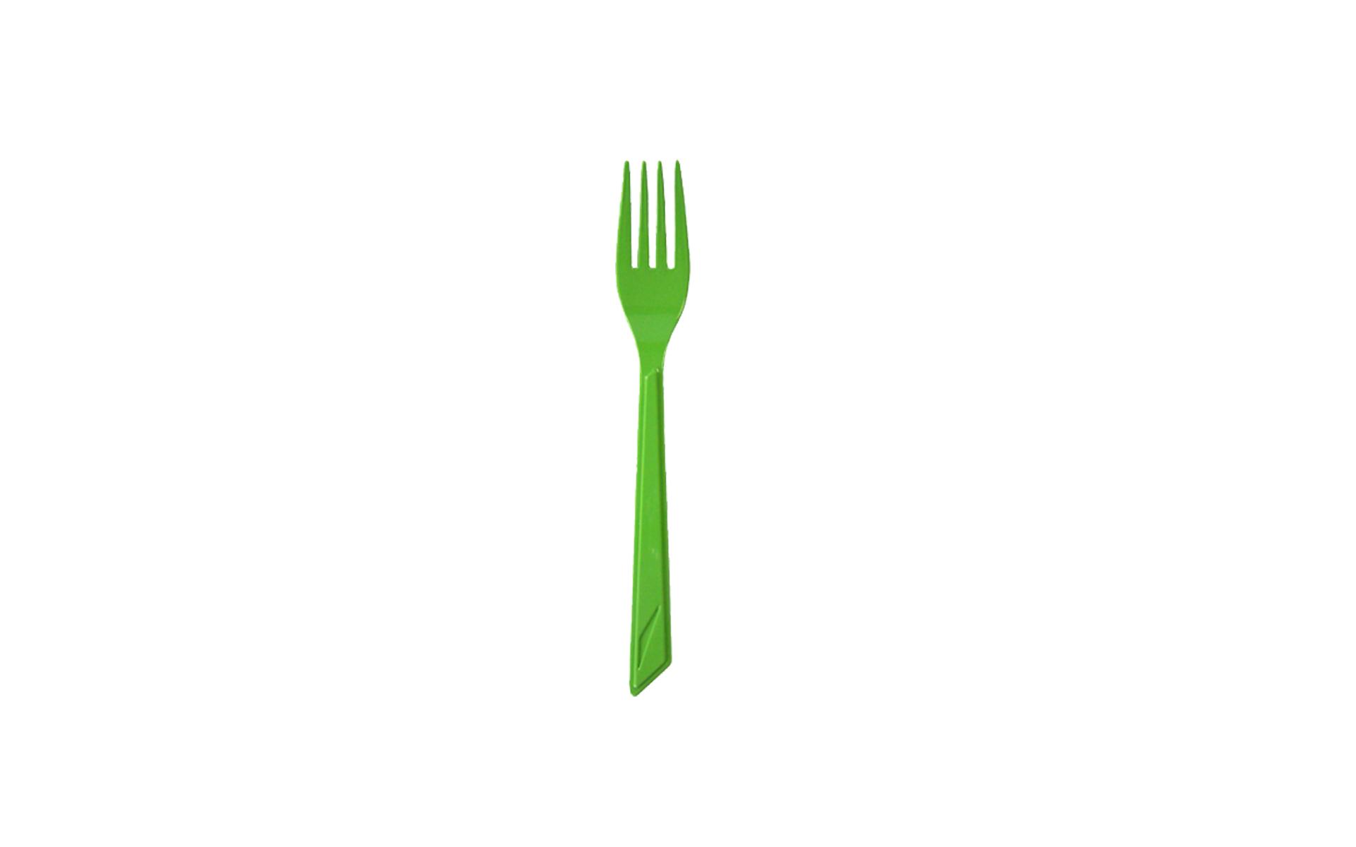 Tenedor verde pistacho