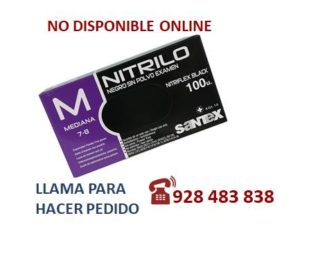 Guante nitrilo negro M - SÓLO PEDIDO TELEFÓNICO
