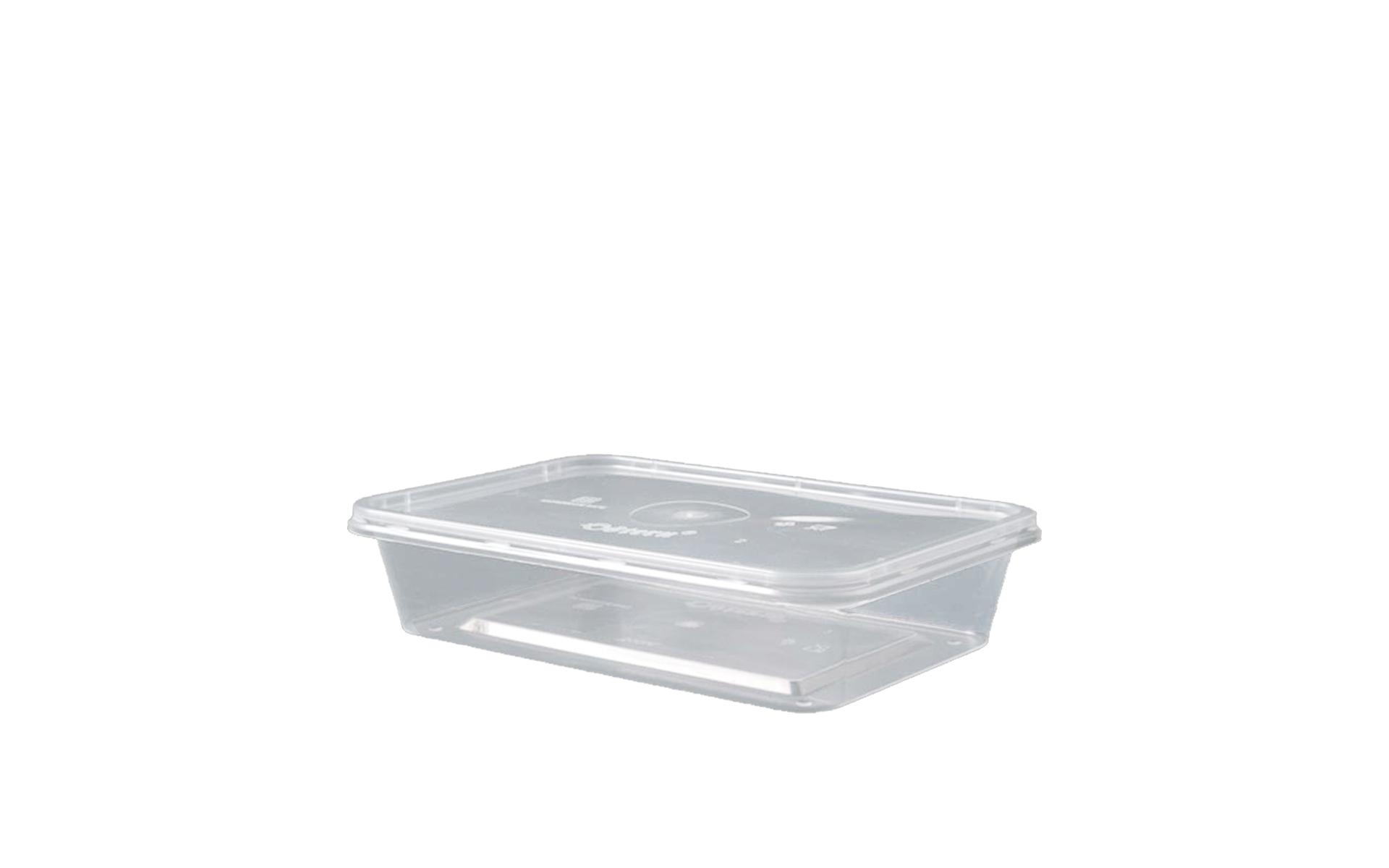 Envase rectangular 500 + tapa