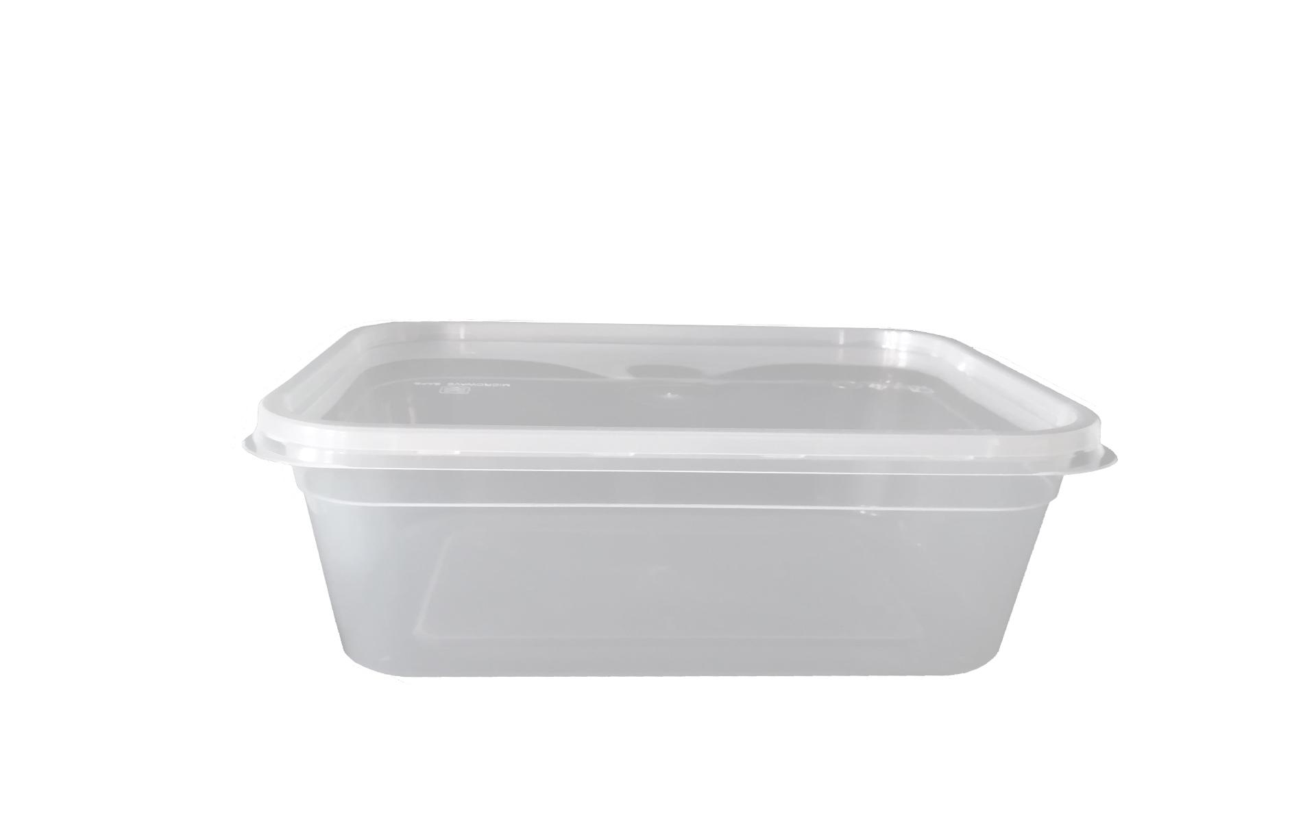Envase rectangular 1500 + tapa