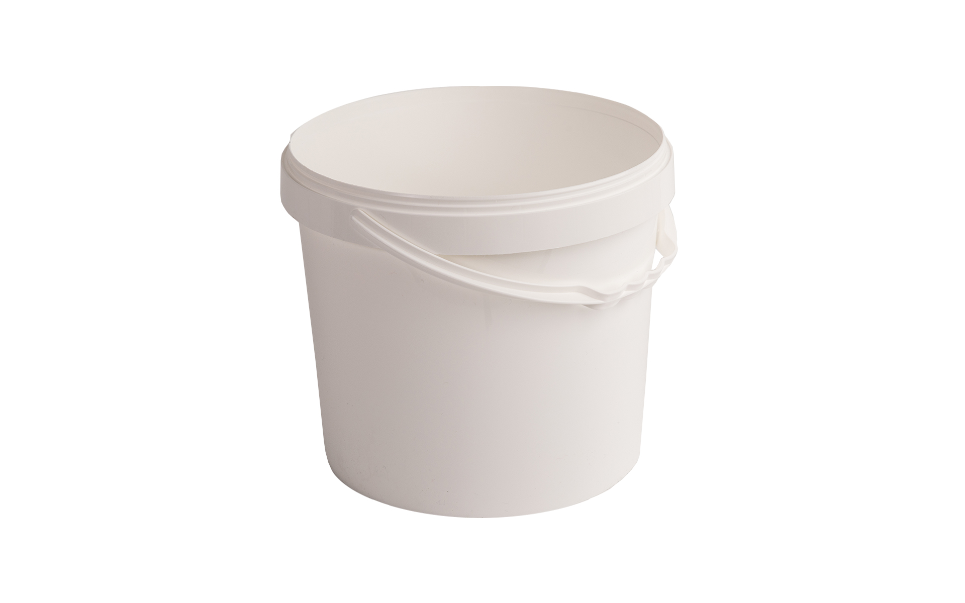 Cubo blanco con asa  4500 + tapa