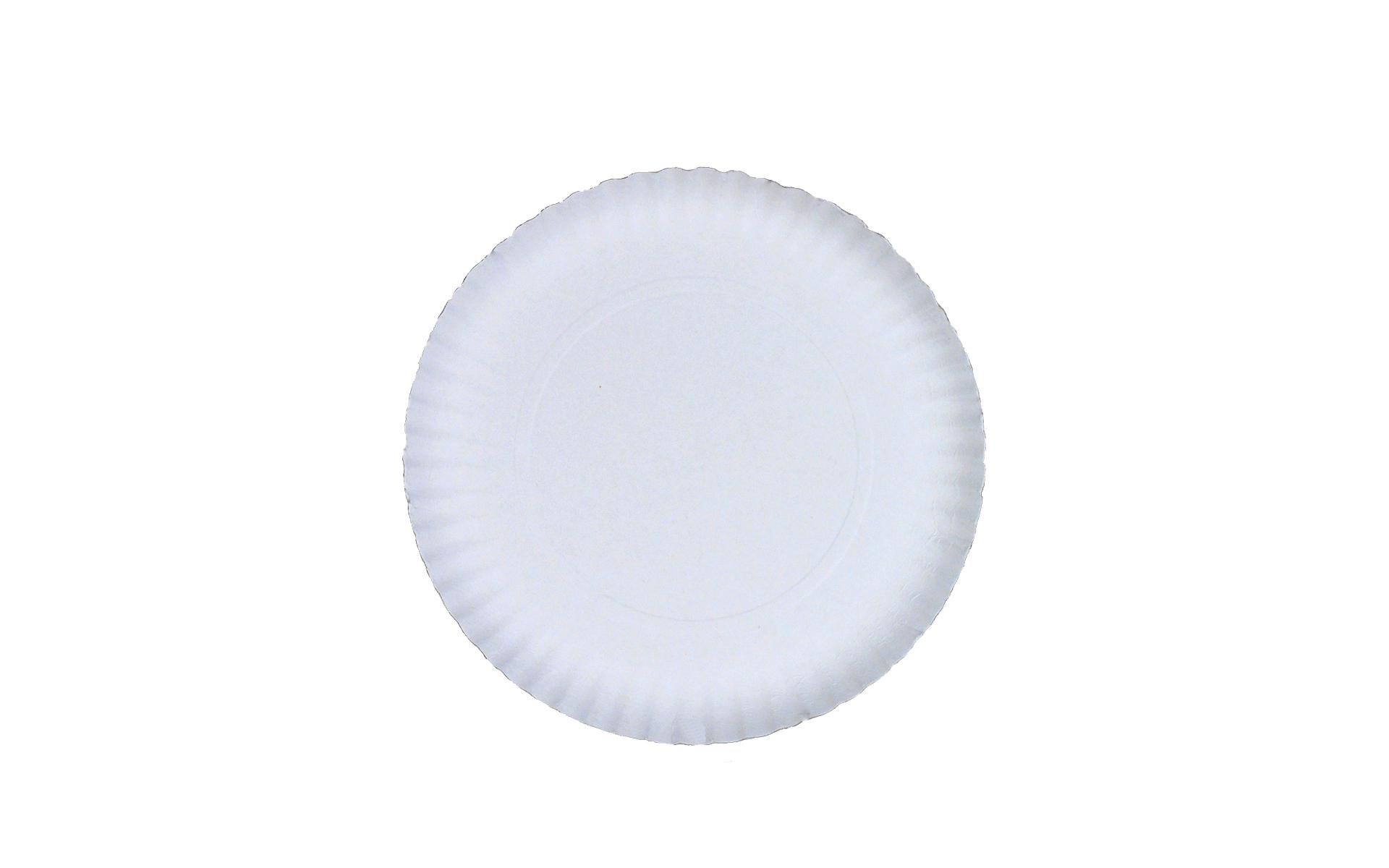 Plato  blanco estriado 21