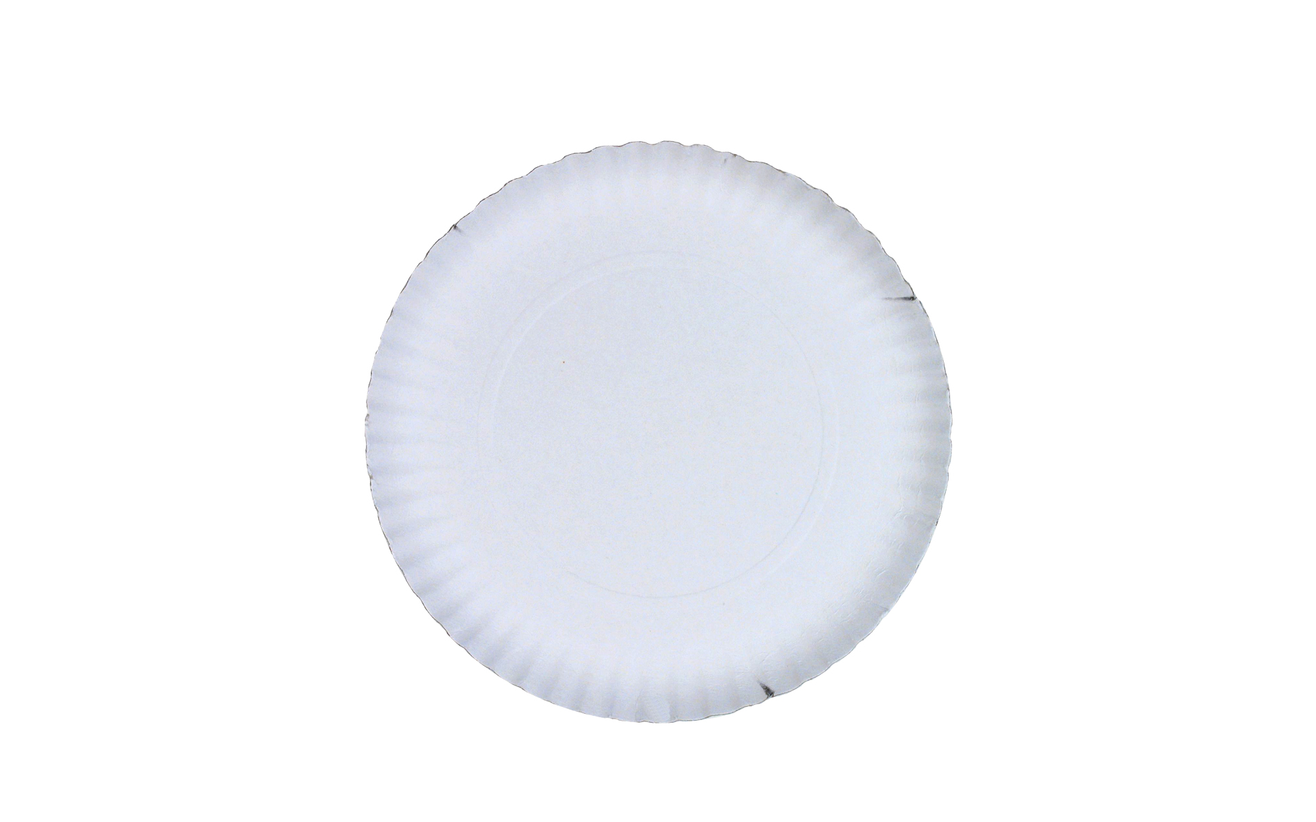 Plato  blanco estriado 23