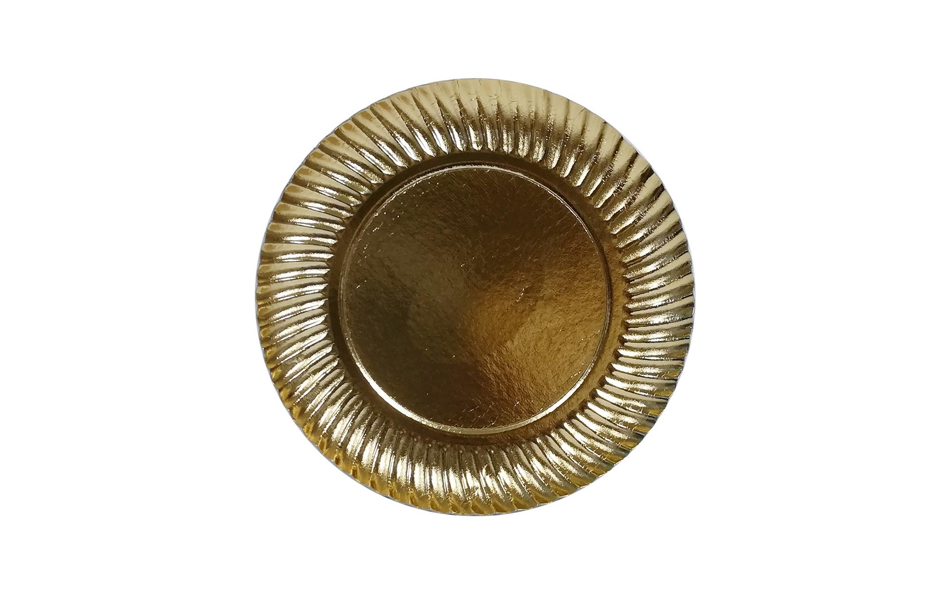 Plato  oro  estriado 21cm