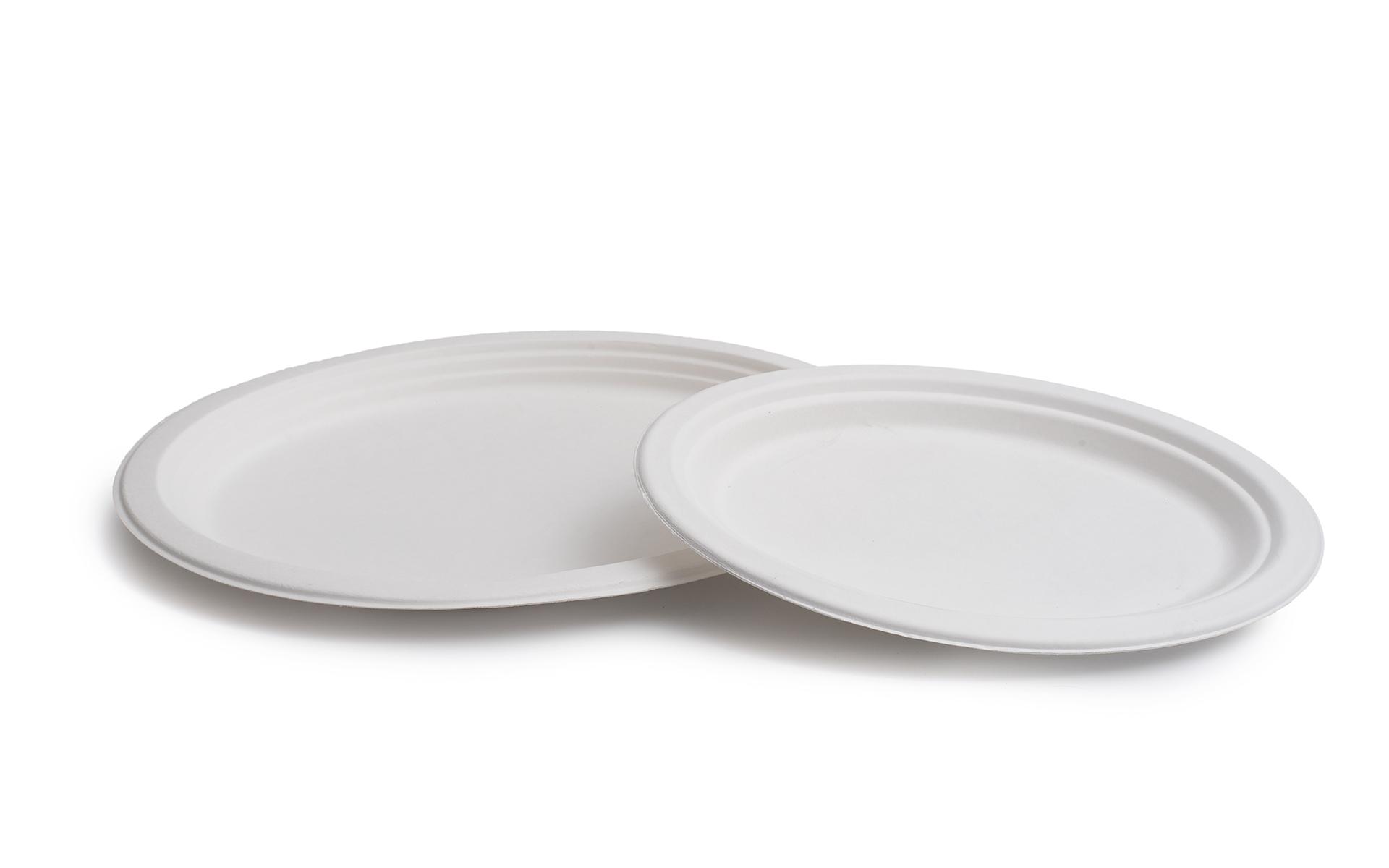 Plato oval Bagazo 26x20cm.