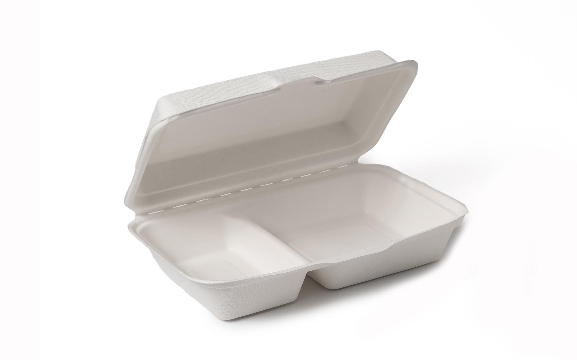 Envase caña 2 compartimentos