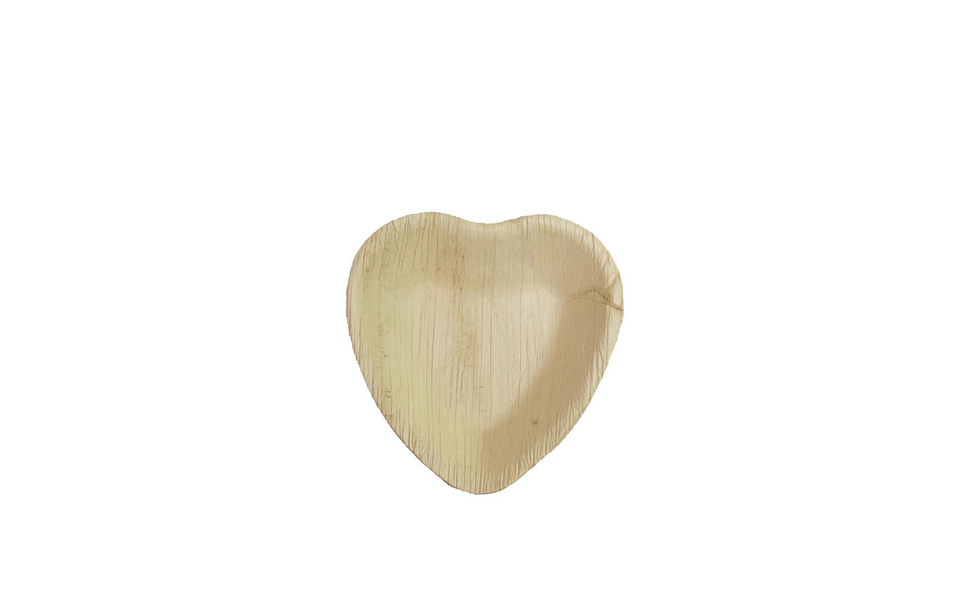 Plato corazón pequeño Areca