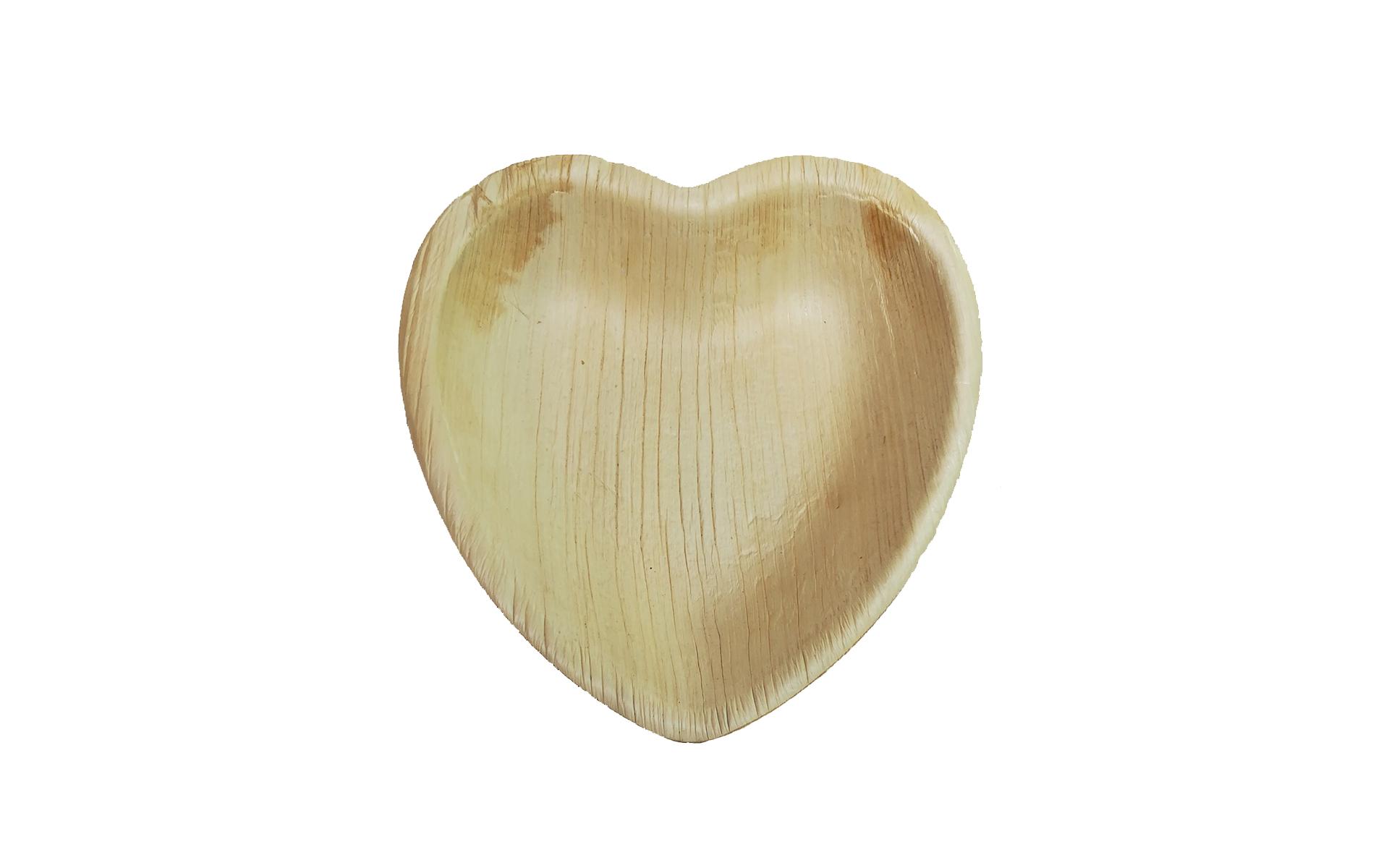 Plato corazón mediano Areca