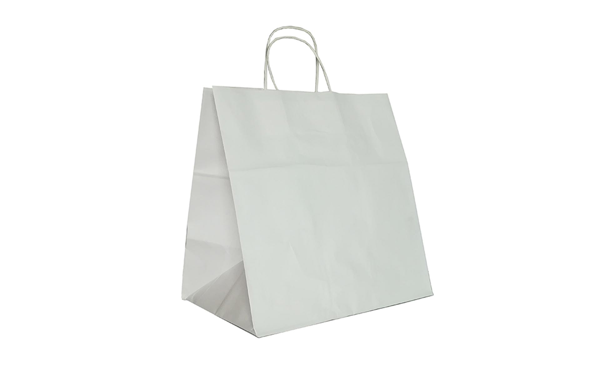 Bolsa papel asa rizada 32x34