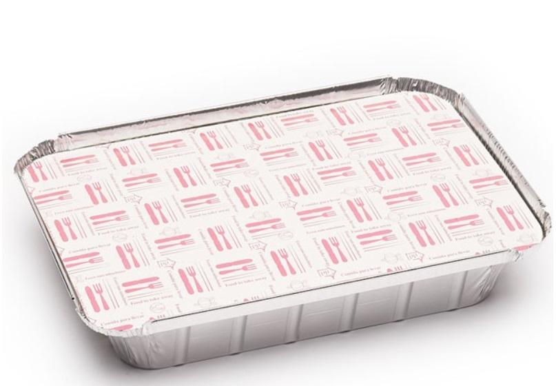 Envase aluminio rectangular 890 + tapa