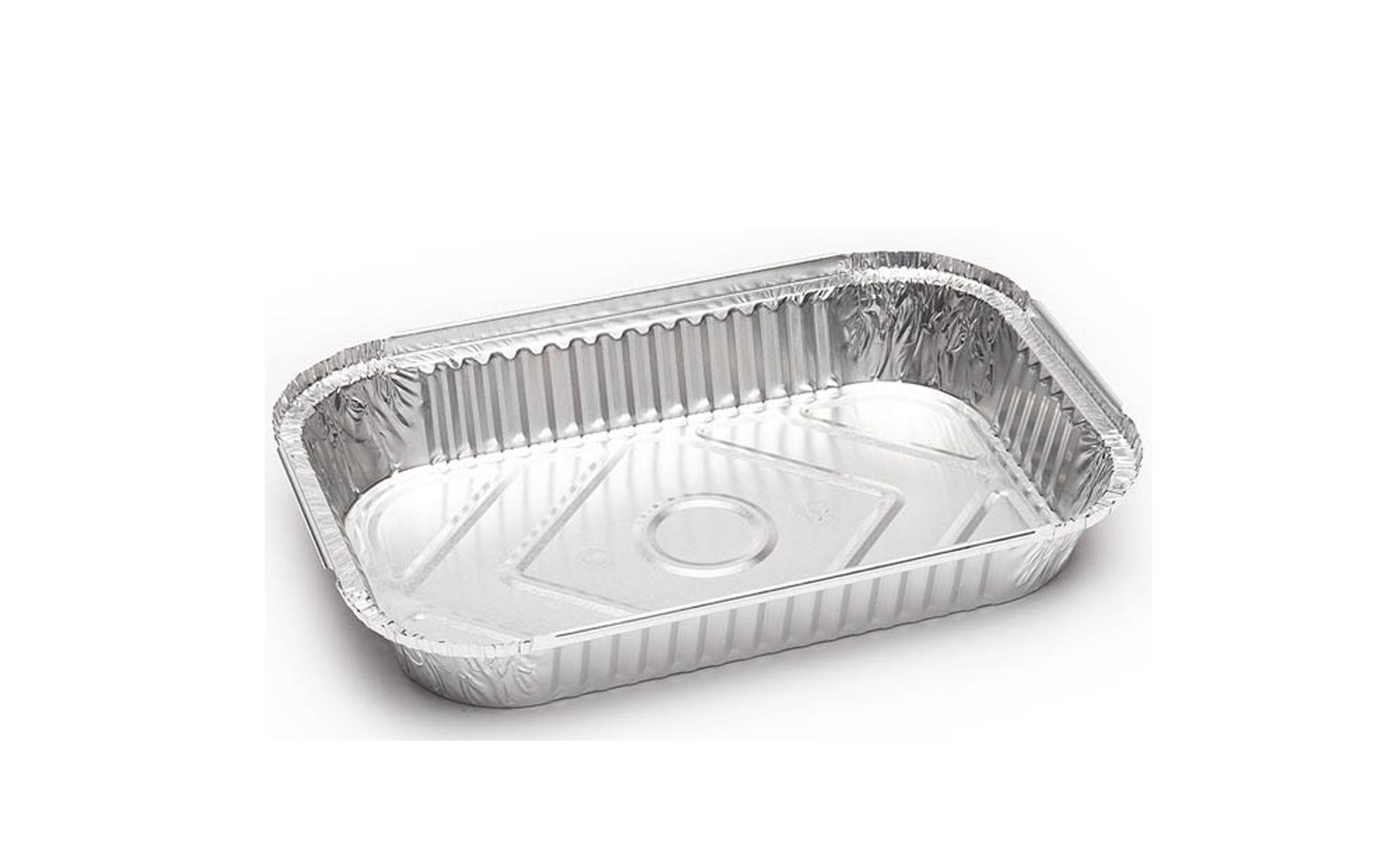 Envase aluminio rectangular 1500 + tapa