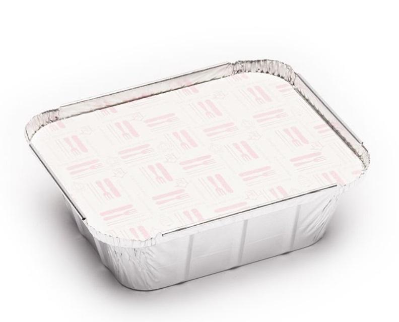 Envase aluminio rectangular 450 + tapa