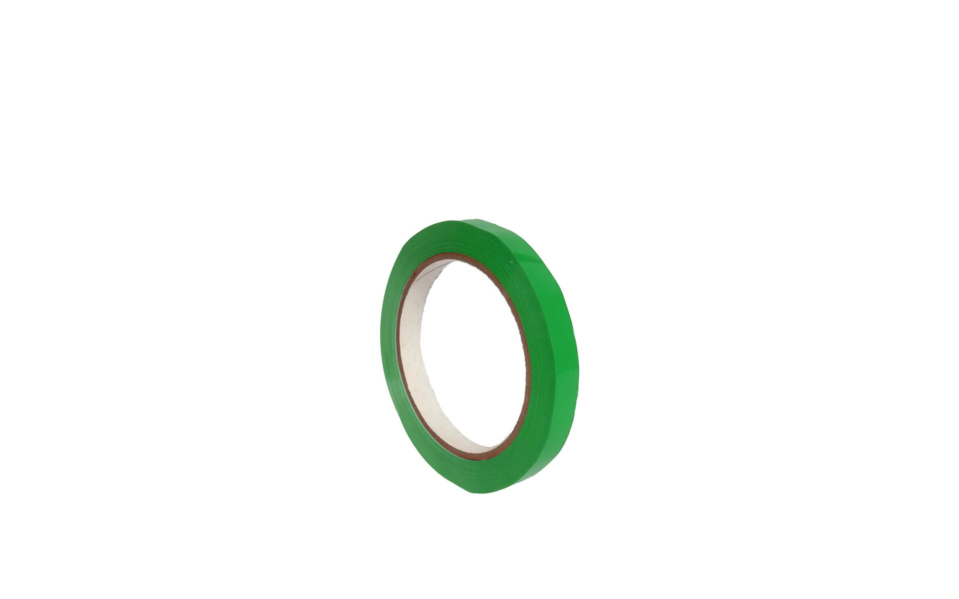 Rollo cinta  cierra bolsas verde