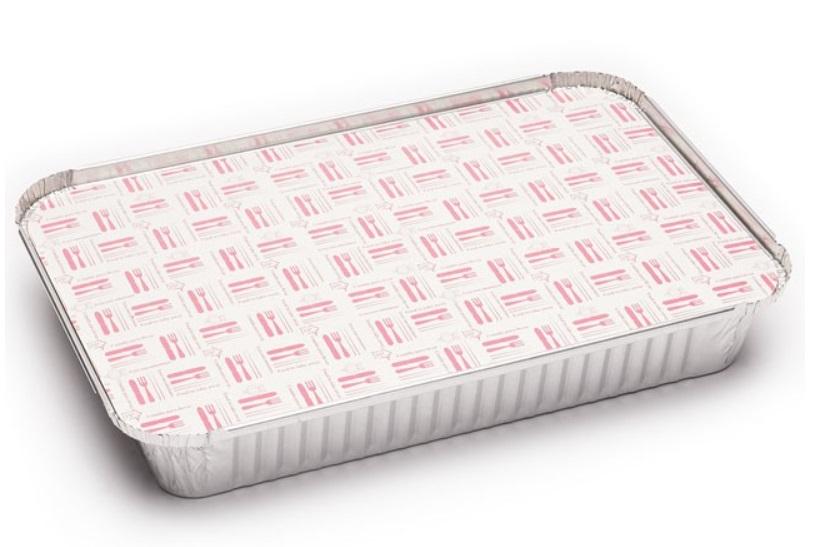 Envase aluminio rectangular 2200 + tapa