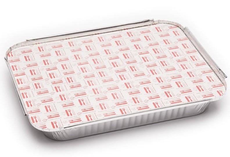 Envase aluminio rectangular 2400  + tapa