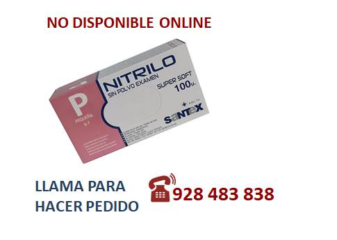 Guante nitrilo light azul P - SÓLO PEDIDO TELEFÓNICO