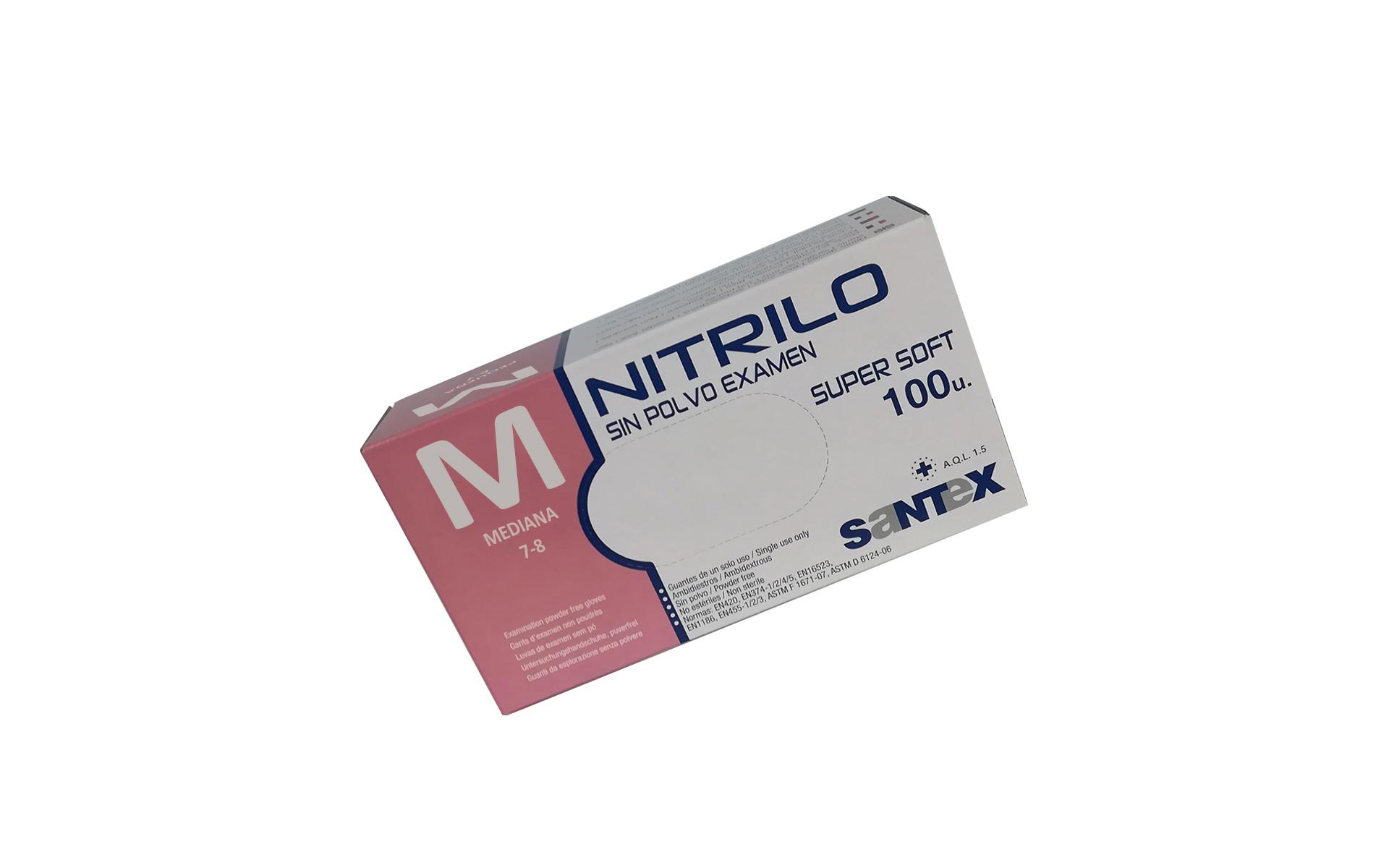 Guante nitrilo light azul M