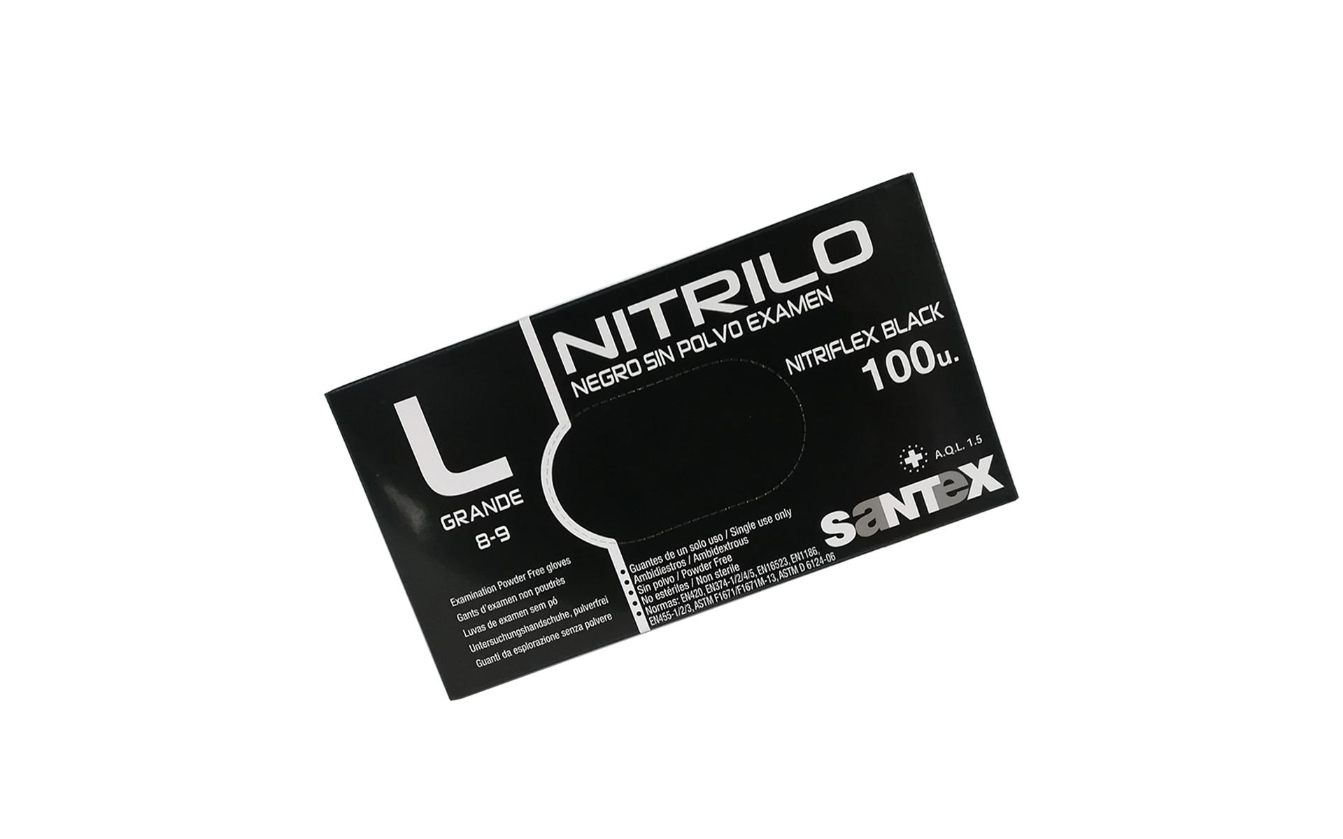Guante nitrilo light negro G