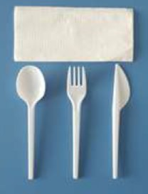 Set tenedor,cuchara,cuchillo y servilleta