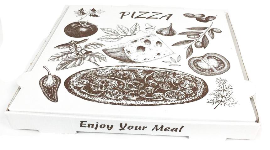 Caja Pizza Blanca 33